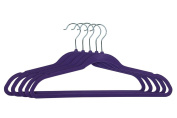 Gravidus Set of 5 Plastic Coat Hangers with Non-Slip Coating purple