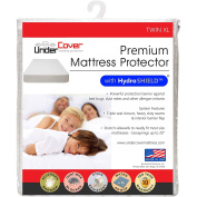 UnderCover Premium Hypoallergenic 100% Waterproof Mattress Protector with Hydro Shield Vinyl Free, Twin X-Large