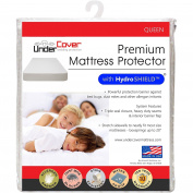 UnderCover Premium Hypoallergenic 100% Waterproof Mattress Protector with Hydro Shield Vinyl Free, Queen