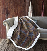 Virah Bella Lodge Star Quilt Throw with Sherpa Backing