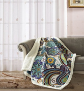 Virah Bella Contessa by Debra Valencia Quilt Throw with Sherpa Backing