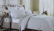 Wamsutta Full Queen Size Quilt from the Serenity Bedding Collection in Silver RN 100350