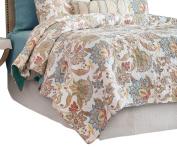 C & F Home Lucianna Full Quilt, Queen, Aegean/Rust/Gold