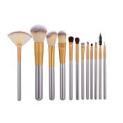 Magic Makalon 12Pcs Blending Pencil Foundation Eye shadow Makeup Brushes Eyeliner Brush