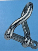 "Stainless Steel 316 Twist Shackle 1/4"" (6mm) Marine Grade"