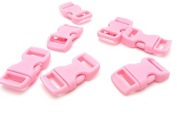 Meanch Paracord Bracelet PLASTIC BUCKLE Paracord BUCKLE water pink