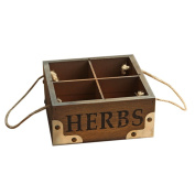 Westeng Plants Flower Pot Wooden Box Container General Cosmetics Debris Storage Case Decor Planter Desk Storage Holder