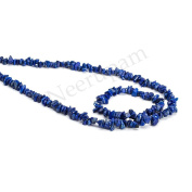 Neerupam collection Blue Colour Natural Afghanistan Lapis Lazuli Gemstone Uncut Chip Beads 10 Lines Loose 80cm Strand