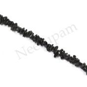 Neerupam collection Black Colour Natural Brazilian Tourmaline Gemstone Uncut Chip Beads 10 Lines Loose 80cm Strand