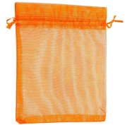 Pack of 5 Organza Bags – Orange – 20 x 15 cm – Ideal Jewellery