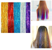 Homgaty 500 Strands Hair Tinsel Sparkling Hair Extention Strands For Women's Accessories