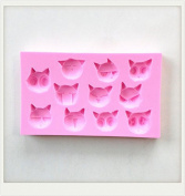 LC Cute Cats X1150 Silicone Fondant Mould Cake Mould Chocolate Baking Sugarcraft Decorating Tools