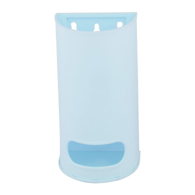 sourcingmap® Plastic Household Bathroom Wall Hanging Garbage Bag Storage Holder Container Box Light Blue