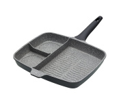 KitchenCraft Masterclass Cast Aluminium Induction-Safe Non-Stick All-In-One Frying Pan, Grey, 32 cm
