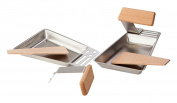 Hecht International Barbecue Accessories, Raclette Pans Gustico Set of 2, Silver, 17 x 11 x 2 cm 201270219 – He
