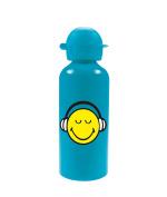 "zakdesigns ""Smiley"" Drinking Bottle, Blue, 600 ml"