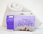 Luxury His and Hers Dual Tempo Partners Duvet 'Warm and Cool' 9 and 4.5 Tog Quilt - Double Size