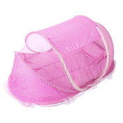 Buluke Free to Instal Foldable child Mosquito Cover 3pcs 110*65*60cm,pink