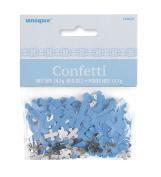 Unique Party Radiant Cross Blue Foil Confetti