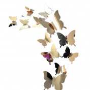 Wall Sticker,Wall Stickers Decal Butterflies 3D Mirror Wall Art Home Decors