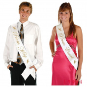 Coolfm Prom King and Prom Queen Satin Sash Prom Sashes School party/Graduation Party (Prom King and Prom Queen)