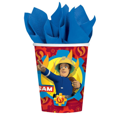 Amscan Fireman Sam Paper Party Cups x 8