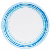 Coastal Watercolour Sea Wave Stripe Party Supplies Dinner Plate