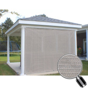 Alion Home Sun Shade Privacy Panel with Grommets on 2 Sides for Patio, Awning, Window, Pergola or Gazebo - Smoke Grey