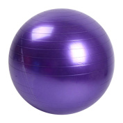 Stebcece Yoga Balance Ball - Professional Grade – Anti Burst Exercise Equipment for Home, Balance, Gym, Core Strength, Yoga, Fitness, Desk Chairs - Purple