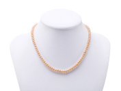 """JYX 6-6.5mm Pink Flatly Round Cultured Freshwater Pearl Necklace Choker 15"""""""