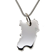 50 cm Necklace + Pendant Brilliant 0, Their Sardinia Wunschort 015ct in A Silver 925