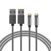 Lightning Cable Vsllcau iPhone Cable Metal Lightning to USB Cable 2 Pack 3.3ft/1m