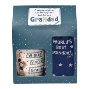Boofle Best Grandad Mug and Socks Gift Set