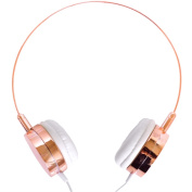 Lily England Rose Gold Headphones Over Ear With Microphone