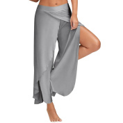 Paymenow Women Casual Summer Pants Wide Leg Culottes Stretch Trouser Clothing Loose Yoga Pants