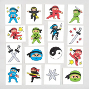 Ninja Temporary Tattoos for Children - Great Toy Party Bag Filler Loot Gifts for Kids