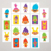 Hairy Heads Temporary Tattoos for Children - Great Toy Party Bag Filler Loot Gifts for Kids