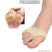 PEDIMEND High Quality Fabric Gel Metatarsal Ball Of Foot Cushion Pads - Forefoot Cushions Covers Metatarsal - Cushions Forefoot Pain – Hard Skin Morton's Neuroma Support - / Orthotic Foot Brace / Hallux Valgus / Elasticated Foot Sleeve