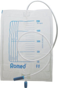 Romed Urine Bag 2.0 Litre with Drain Valve, 10 Pieces, Single, Sterile, Packed in Foil, CE Certified