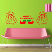 Bazaar Merry Christmas Santa Claus Stocking Removable DIY Window Wall Sticker Home Party Decoration