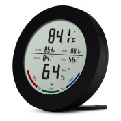Amir Indoor Hygrometer Thermometer, Digital Temperature and Humidity Monitor, Humidity Metre with LCD Screen, MIN/MAX Records, Trend of Temperature Change, ℃/℉ Switch, Comfort Indicators for Home