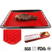 BrilliantDay Non Stick Silicone BBQ Grill Mat Oven Baking Tray Cooking Mat