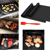 BrilliantDay Set of 2 Non Stick BBQ Grill Mats - Perfect for Baking on Gas, Charcoal, Oven and Electric Grills
