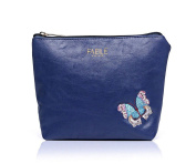 Gorgeous Blue embroidered butterfly make up bag | FREE UK DELIVERY | SAVE 50%