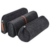 Pencil Case, Fascigirl 3 Pack Pencil Bags Set Soft Pencil Holder Cosmetic Pouch Bag