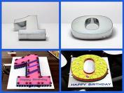 "Small Number One & Zero Birthday Wedding Anniversary Cake Tin – 10"" x 8"" (3"" deep) each cake tin"