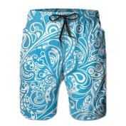 Summer Beach Men's Casual Beautiful Breathable Beach Pants Shorts Short Pants Drawstring Waist Beach Walk Shorts Beach Shorts Swimming Pants With Pockets