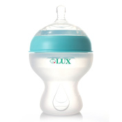 LUX Nurture Baby Bottle| Anti Colic | Infant Bottles | Silicone | Breastfeeding | Nursing | BPA Free | No Leak| Easy Transition | by LUX Baby Bottle