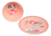 Bundle of Tar Hong Melamine Children's Matching Plate and Bowl Set