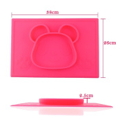 Eoozon Panda Silicone Baby Placemat Plate, BPA Free, One Piece